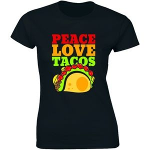Peace Love Tacos Food Humor Mexican Taco T-shirt
